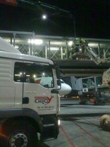 Trabajo en Aeropuerto Adolfo Suárez T4 - Cambio de cristales