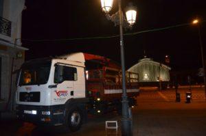 Instalación quiosco Atocha vista Puerta de Atocha
