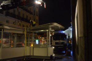 Instalación quiosco Atocha